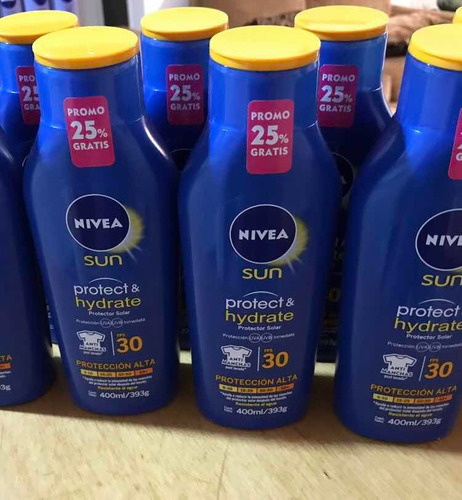 Protector Solar Hidratante  Nivea 400 Ml Fps50