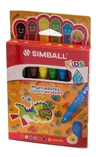 Marcador Simball Kids Lavables X6