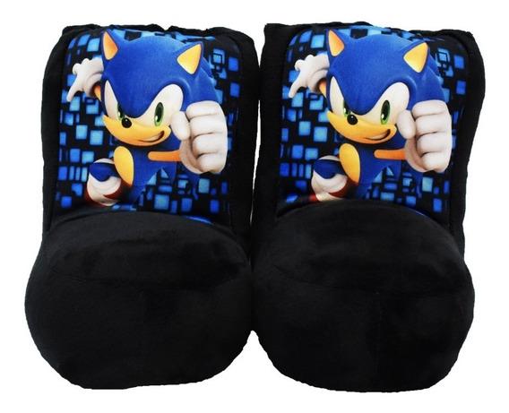 Pantuflas Botitas Sonic Boom.