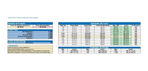 Planilha Excel Para Saber O Roi No Dropshipping
