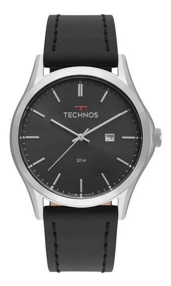 Relógio Technos Masculino Classic 2115msg/0p Aço Couro Preto