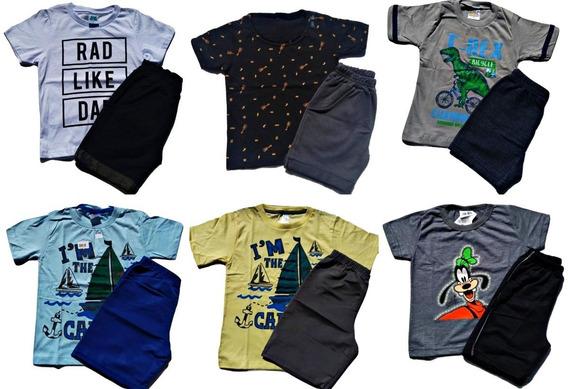 Kit 10 Conjuntos Roupas Infantil Verão Feminino / Masculino