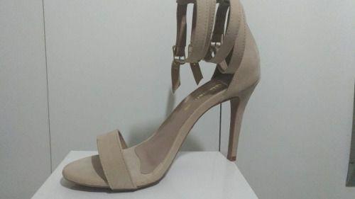 Sandalia Salto Alto Feminina Slim Tira Fina Vermelha E Outra