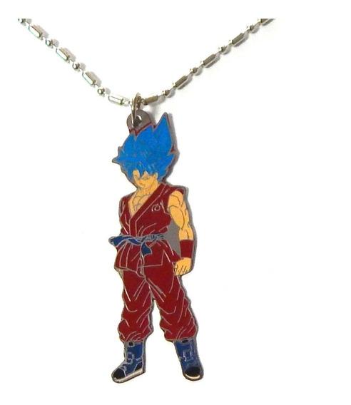 Dragon Ball Super Dije Collar Kakaroto Sayayin Dios Blue