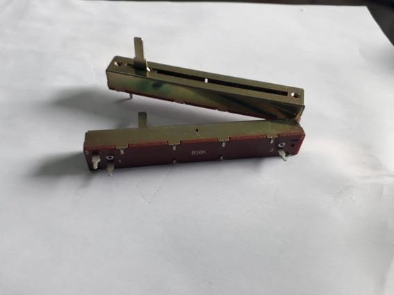 Potenciometro Deslizante 50kb Eixo 15mm-perc 60mm Kit C/ 4pç