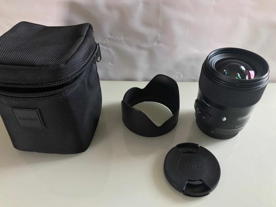 Lente Sigma Art 35mm 1.4 P/canon - A Vista R$3.400