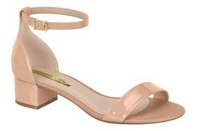 Sandália Salto Grosso Baixo Moleca Verniz Premium 5259.513