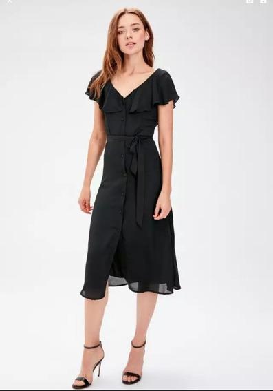 Vestido Midi Preto - Tamanho 38 - Novo