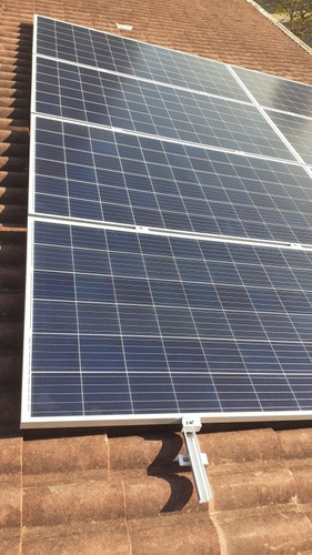 Imagem 1 de 4 de Kit Gerador Sistema Solar Inversor 1300w 4modulos 340w