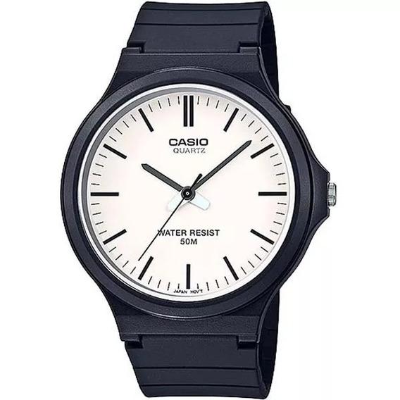 Relógio Casio Masculino Branco Analógico Mw-240-7evdf