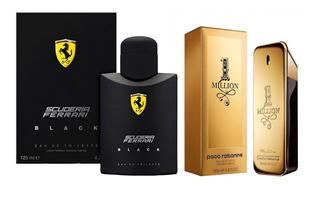 Perfume Ferrari Black 125ml + One Million 100 Ml