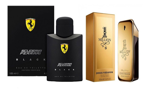 Perfume Ferrari Black 125ml + One Million 100 Ml