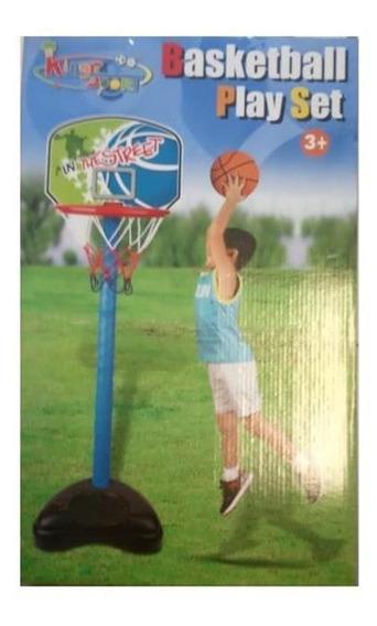 Set Aro De Basketball Con Pie Con Pelota