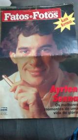 Revista Fatos E Fotos - Ayrton Senna + Boné Banco Nacional