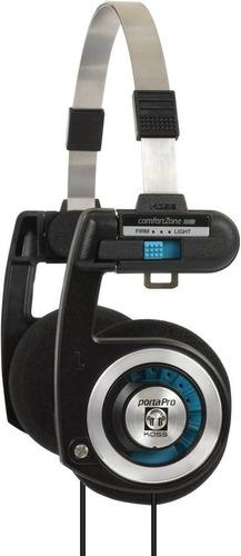 Koss Porta Pro On Ear Headphones Con Estuche, Negro / Platea