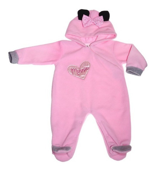 Mameluco Bb Ideal Disney Polar Completo Bordado Minnie