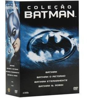 Box Coleção Batman - 4 Filmes - Tim Burton - Dc - Lacrado