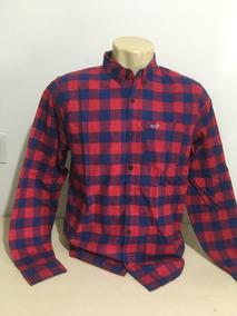 Camisa Hollister Original Xadrez Stretch 98% Alg 2% Elastano