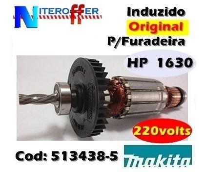 Induzido Original P/furadeira Hp 1630 220v Makita