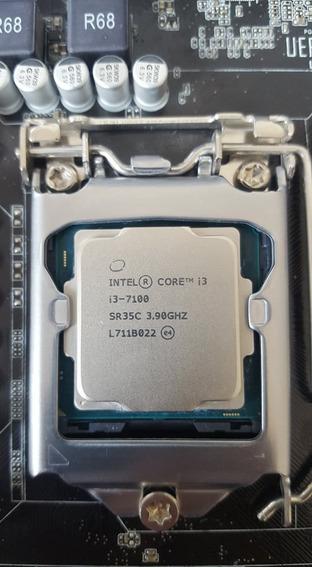 Kit Intel I3 7100+placamãe+coolerbox+fonte500w