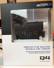 Zoom Q4 Gravador Digital De Áudio E Vídeo (câmera Filmadora)