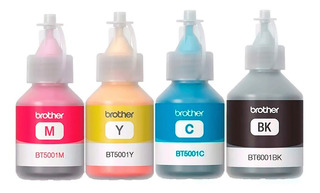 Combo Tinta Brother Negro + 3 Color Original T300 T500 T700