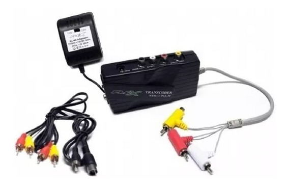 Transcoder Universal Ntsc Para Pal M E Modulador Para Rf Tv