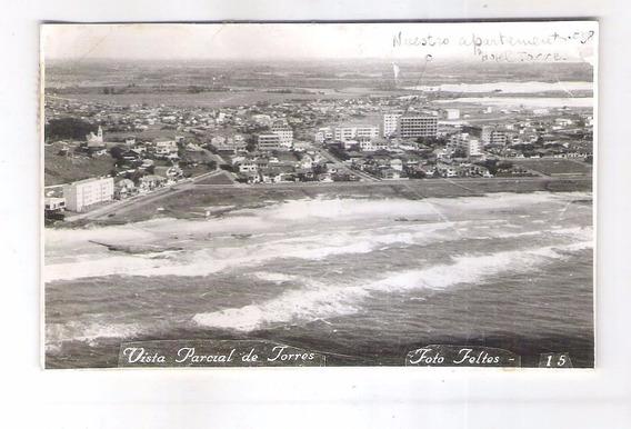 Tr01 Postal Circulado 1963 Torres Praia Foto Feltes