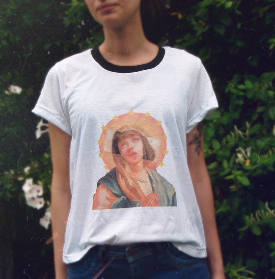 Remera Pulp Fiction Mia Wallace Virgencita
