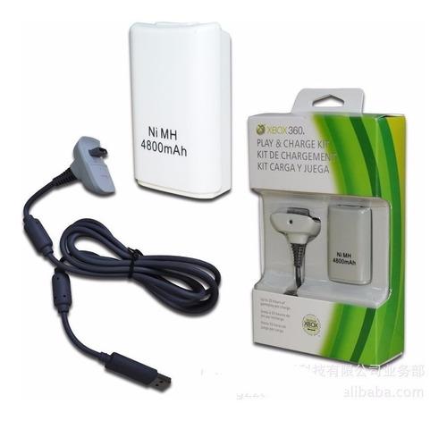 Kit Carga Y Juega Pila Bateria Y Cable Para Control Xbox 360