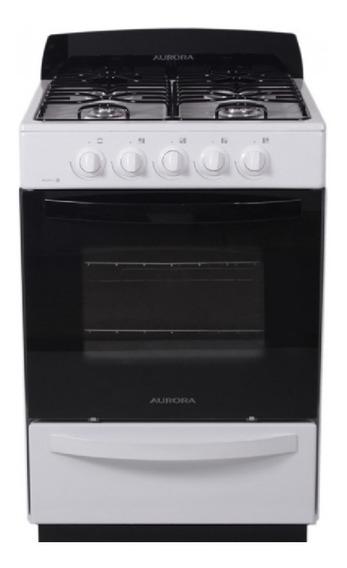 Cocina A Gas Aurora Argenta 3 56cm Blanc V/seg Multigas 3415