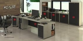 Mesa Para Escritório Kit 5 Peças | Várias Cores, Alto Padrão