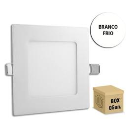 Pacote 5 Painel Plafon 18w - Embutir Quadrado - Bf