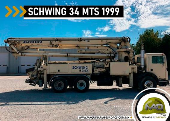 Mack - Bomba De Concreto Schwing 34 Mts 1999