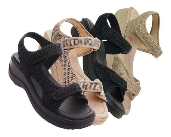 Sandália Papete Azaleia Street Ortopédico Fechamento Velcro