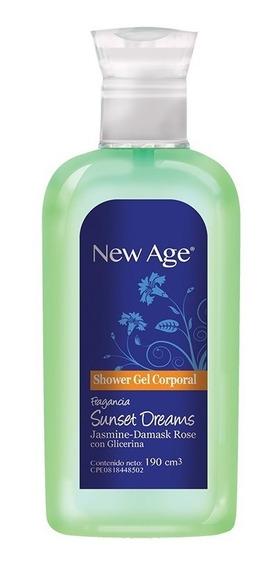 Shower Gel New Age Sunset Dreams Caja 12 Unidades De 190cc.