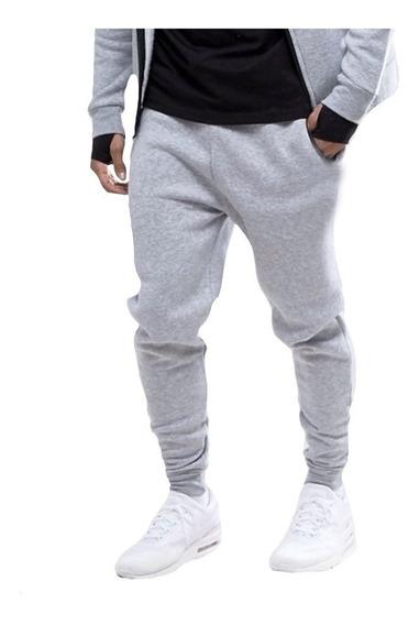 Calça Moletom Skinny Slim Fit Academia Fitness Casual Moda