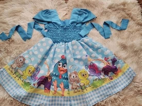Vestido Festa Infantil Galinha Pintadinha