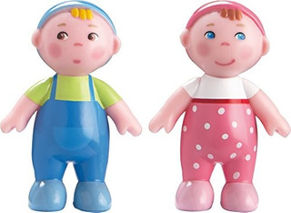 Haba Little Friends Babies Marie Y Max 25 Twin Bendy Doll Fi