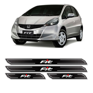 Kit Soleira Da Porta Resinada Diamante Honda Fit 2006/2014
