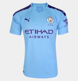 Camisa Manchester City Home 19/20 S/n° - Torcedor - Azul
