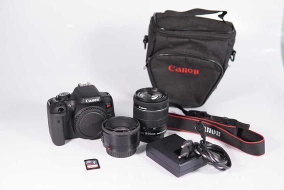 Vendo Canon T6i *muito Nova* + 2 Lentes + Acessórios