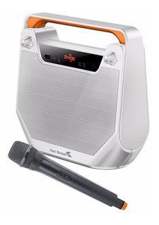 Parlante Portatil Bluetooth Ken Brown Usb Fm Mic. Mp3 Luces