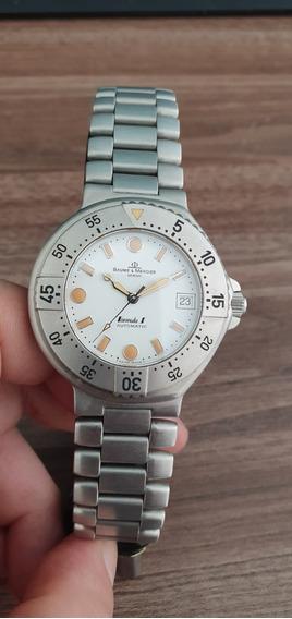 Relógio Suíço Automatico Baume Et Mercier Formula S Branco