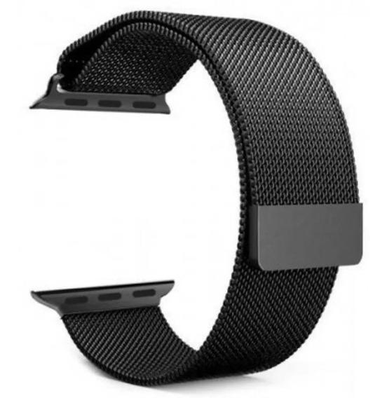 Pulseira Milanese Loop Para Rélogio Apple Watch 38mm Ao 44mm