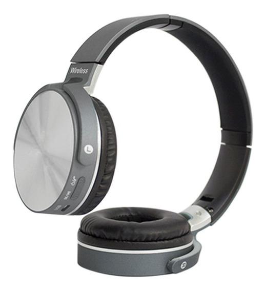 Fone De Ouvido Wireless Bluetooth Headset Microfone Cinza