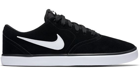 Tênis Nike Sb Check Solar Masculino - Preto E Branco