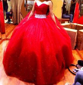 Vestido De 15 Años Rojo Quemado
