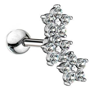 Piercing Para Cartílago Triple Flor Piercing Argentina ®