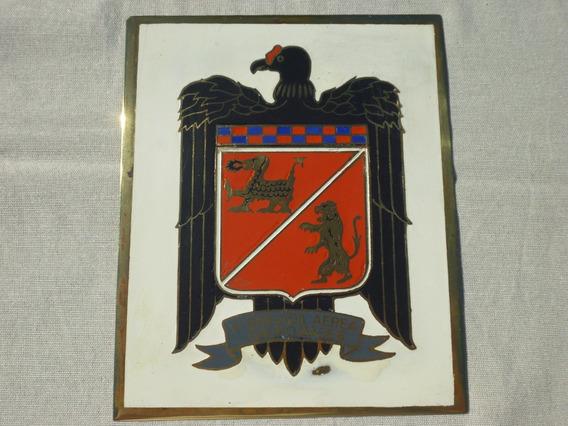 Cartel Antiguo Chapa Bronce Y Enlozado 16x13cm Brigada Aerea